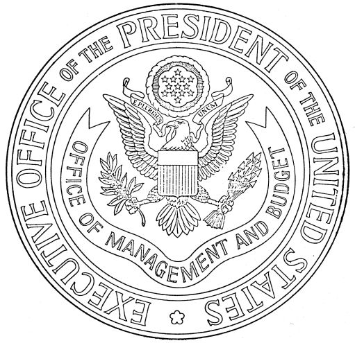 Official seal of the Office of Management and Budget, which reports to the Executive Office of the President of the United States