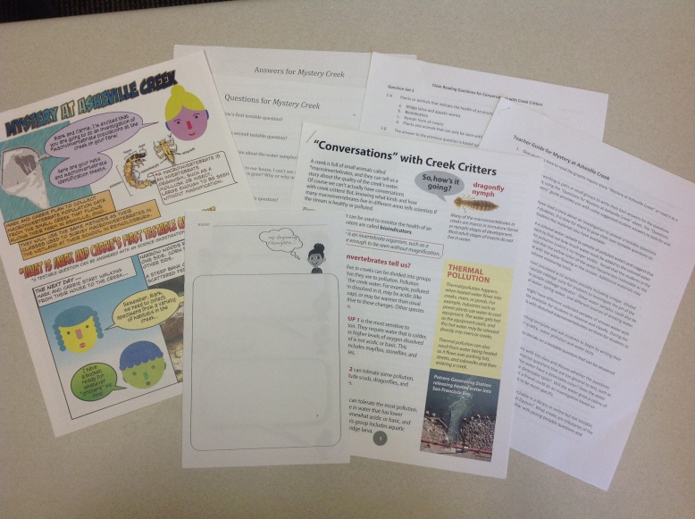 Materials developed by the research team to be used in the classroom.