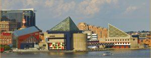 Skyline of Baltimore's Inner Harbor.