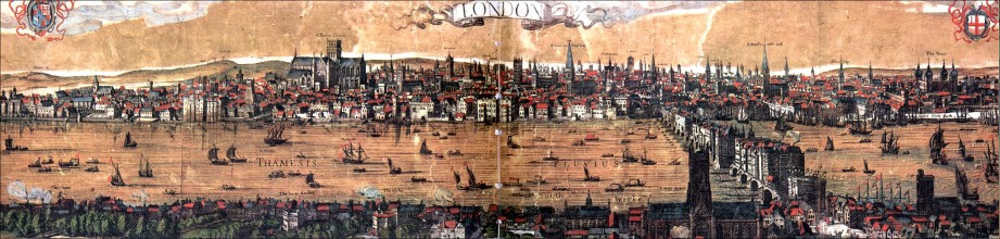 Claes Visscher's 1616 Panorama of London