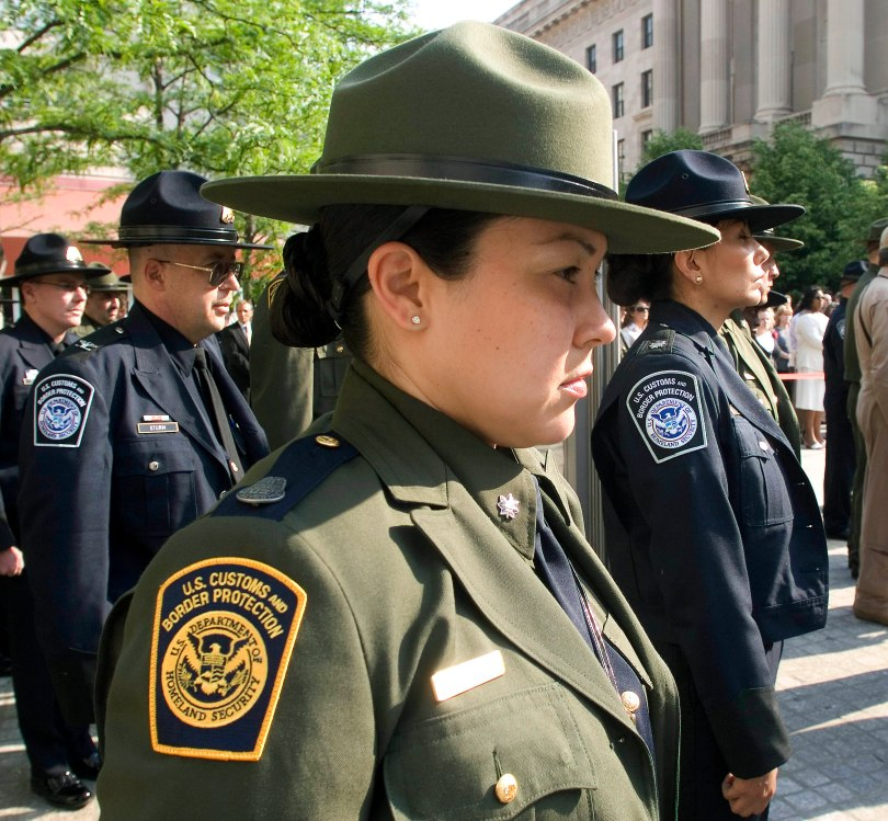 CBP Officers pay tribute to fellow fallen officers during a Law Enforcement memorial service in Washington D.C.