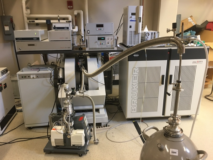 Equipment -- including a pulsed EPR spectrometer -- in the Ohio Advanced EPR Laboratory.