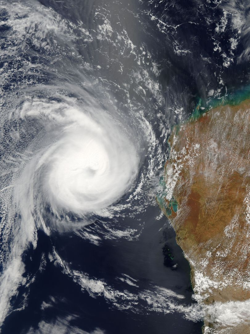 Satellite image of Tropical Cyclone Carlos, February 24, 2011