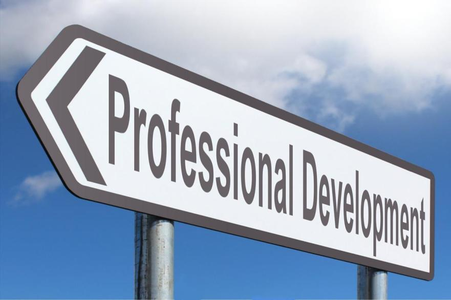 "Road sign reads ""Professional Development"""