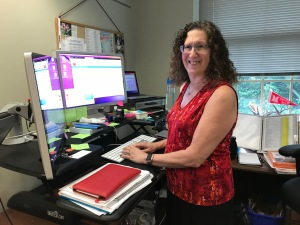Anne Schauer in her office