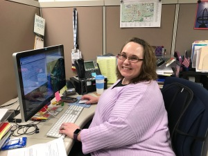 Vanessa Gordon at her desk