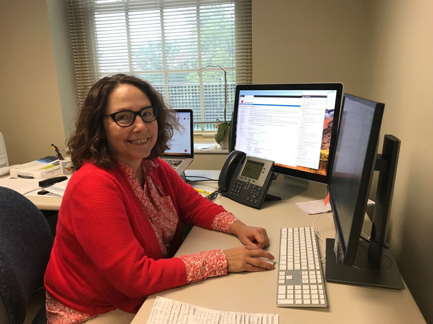 Amy Hurley Cooper in her office