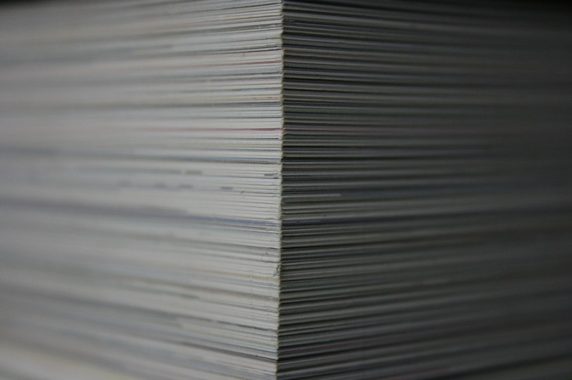 Large stack of paper