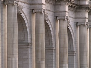 Columns and arches in Union Station.