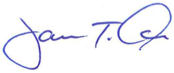 Jim Oris's signature